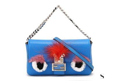 芬迪蓝色恶魔眼睛带钻包包回收多少钱